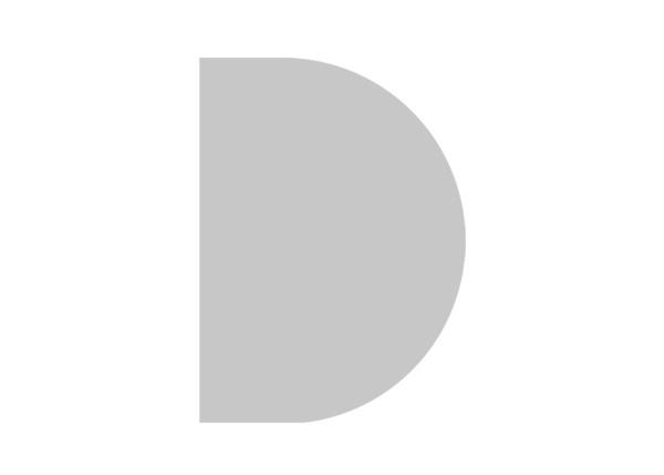 Ansatztisch Halbkreis 60 cm mit Stützfuß in Silber