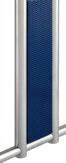 Seitenblenden aus Lochblech in Blau, im Set